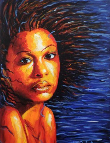 Blue shiver by Liz Powley