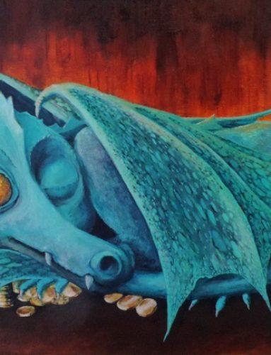 Small change dragon by Liz Powley