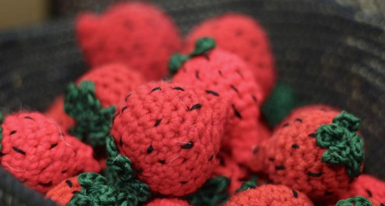 Crochet strawberries